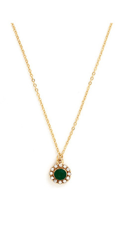 Delicate-Drop-Necklace-in-Green1
